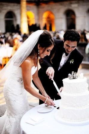 Cake Cutting at Art Institute Wedding