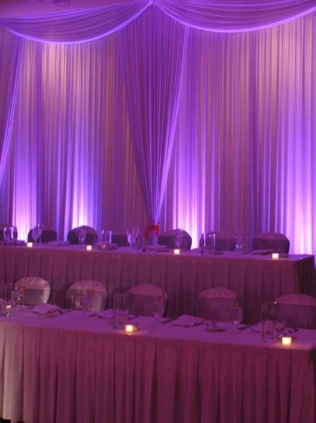 Wedding Backdrop with Uplights