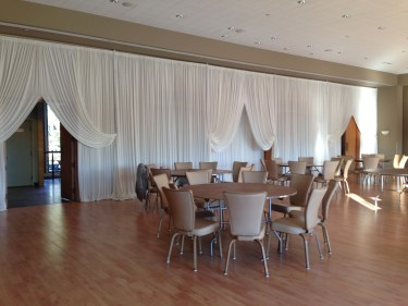 Wall of wedding drape