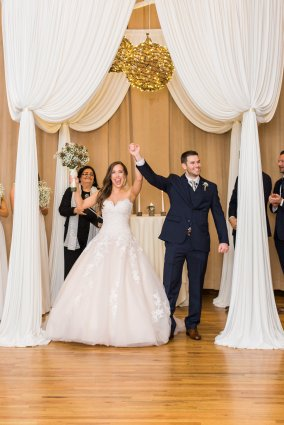 Wedding Ceremony Drape at Metropolis Ballroom Photo by Dabble Me This