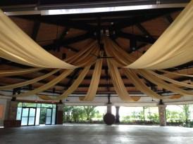 ceiling drape in pavillion