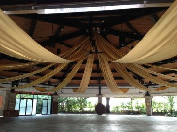 ceiling drape in pavillion
