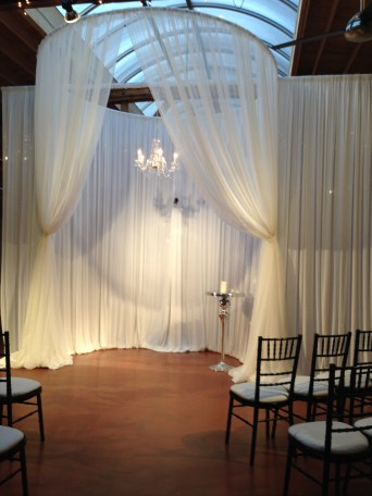 Ceremony Structure at Loft on Lake