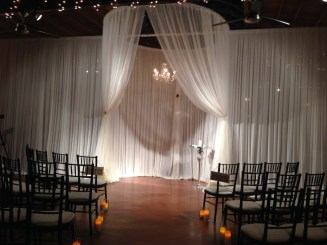Ceremony Structure and Candles at Loft on Lake