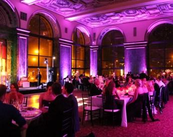 Purple Wedding Lighting