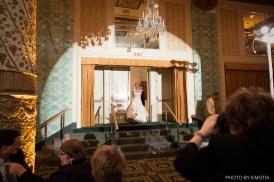 Spotlight at Drake wedding