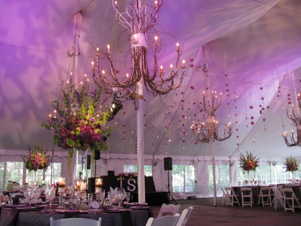 Tent wedding lighting at Galleria Marchetti