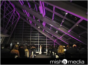 Lighting at Adler Planetarium for a wedding
