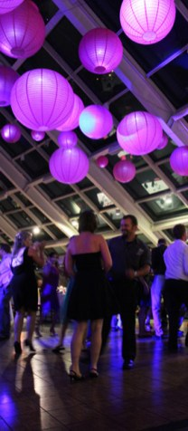 Hanging lanterns at Adler Planetarium
