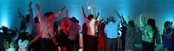 Joanie and Brian Make a Splash with Theme Wedding Lighting & DJ