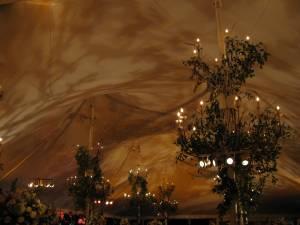 Wedding lighting at Galleria Marchetti
