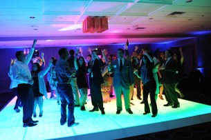 LED Dance Floor at a Corporate Event in Chicago