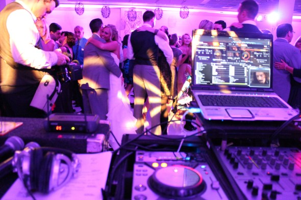 Belvedere Banquet Wedding Bride with dj table