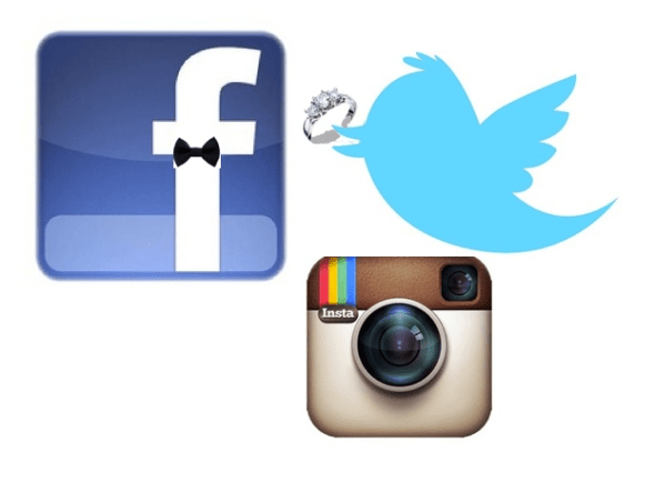 Using Social Media on your Wedding Day
