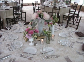 Wedding Centerpiece at Chicago Botanic Gardens
