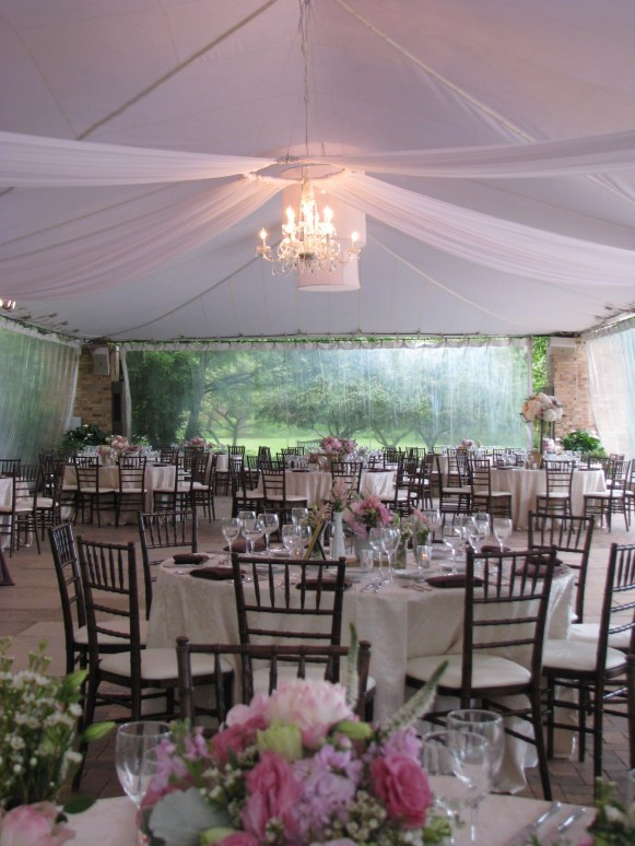 Wedding Drape at Chicago Botanic Gardens