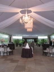 Chandelier at Chicago Botanic Gardens Wedding