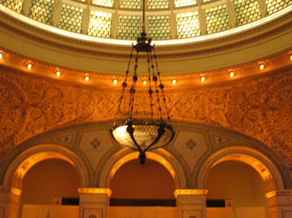 Chicago Cultural Center Amber Uplighting