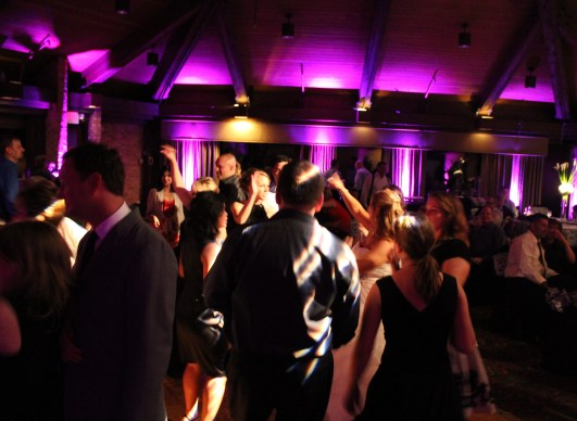 Cristi and Jeff's Dance Floor at Indian Lake Hilton Wedding