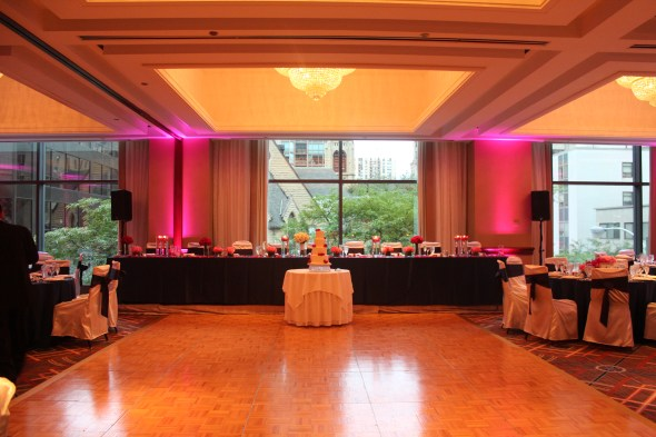 Omni Chicago Hotel Wedding Lighting