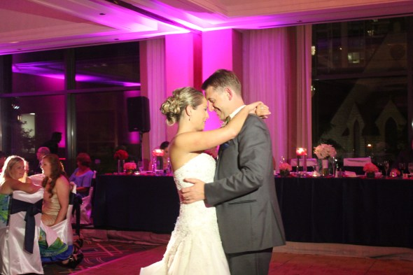 Kellie and Ian Dancing at the Omni Chicago Hotel Wedding