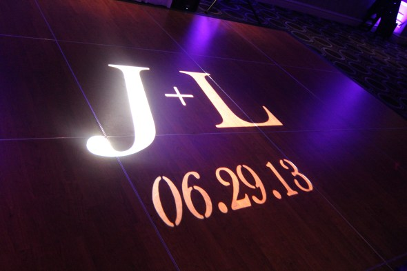 Chicago Wedding Lighting Gobo