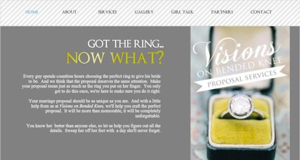 Visions On Bended Knee Website