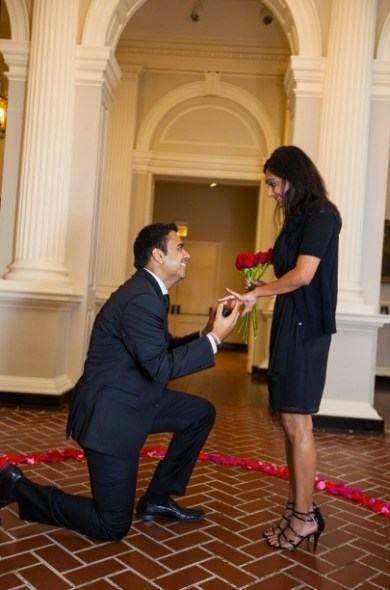 Visions On Bended Knee, roses wedding proposal