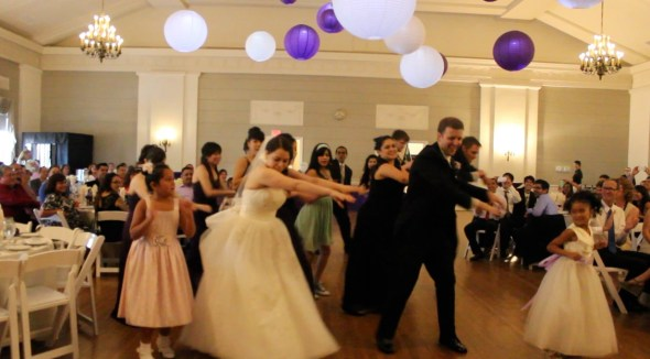 Nineteenth Century Club Wedding Flash Mob Dance
