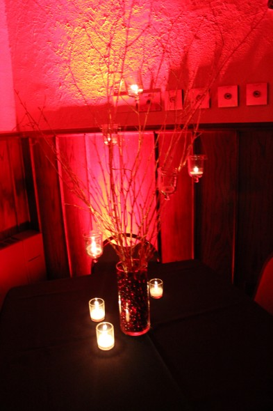 Chicago Wedding Decor Branch Centerpieces with hanging candles