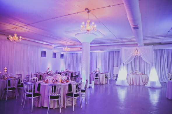 Room 1520 Wedding Lighting in Purple