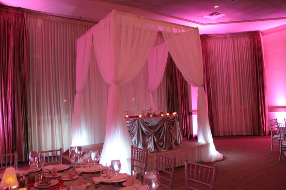 Custom Drapery at Belvedere Banquets Wedding
