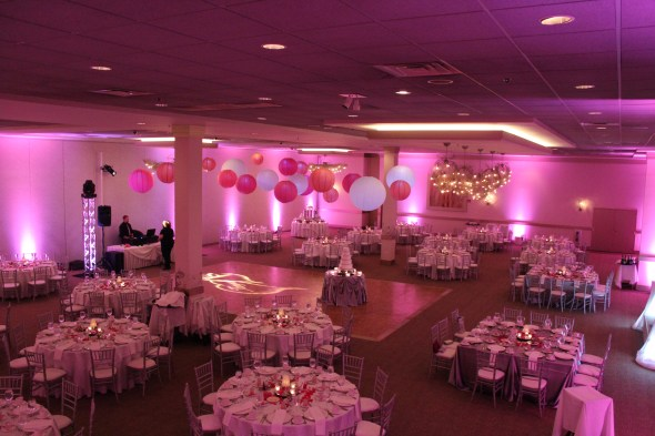 Pink Lights at Belvedere Banquets Wedding