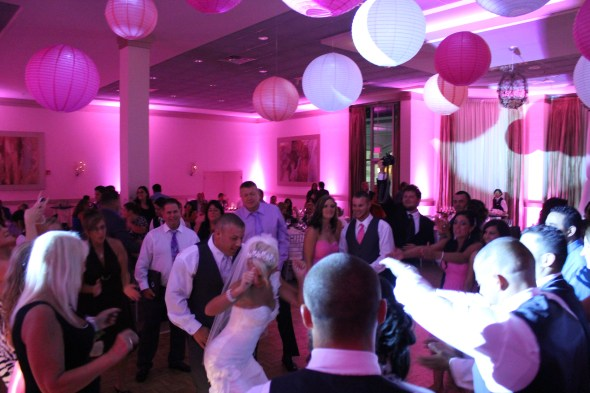 Dance Floor at Belvedere Banquets Wedding