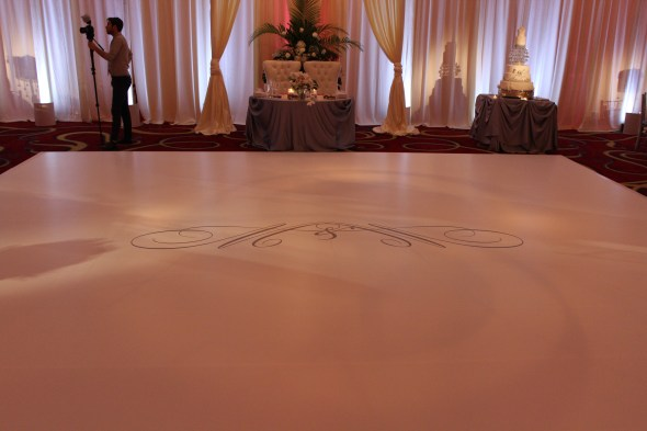 Signiture Dance floor at JW Marriott Chicago Wedding