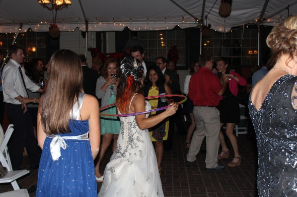 Hula Hooping Bride at Season's of Long Grove Wedding