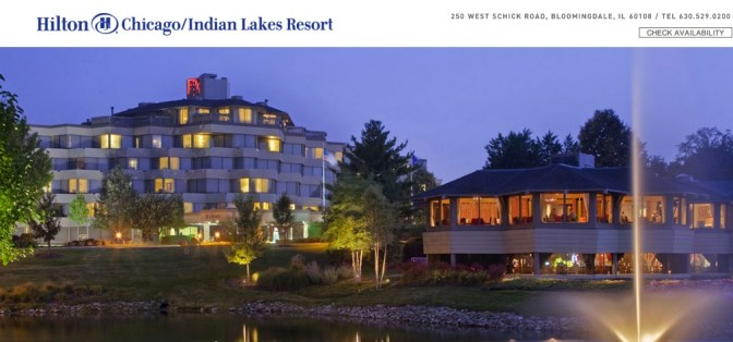 Hilton Chicago/ Indian Lake Resort Rustic Chic Wedding Venue