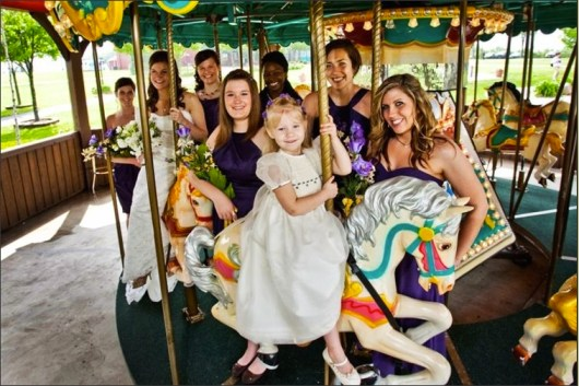 Royal Oak Farm Orchard Rustic Chic Wedding Venue Carousel