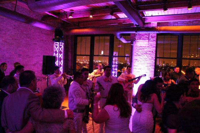 Mariachi Band at the Bridgeport Art Center wedding