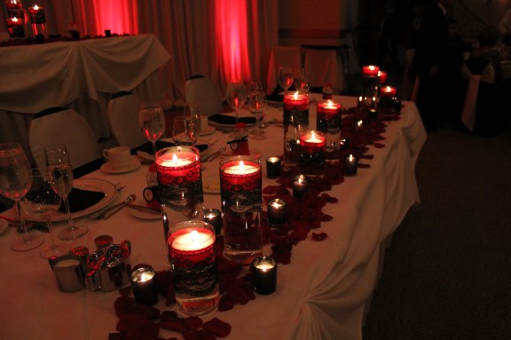 The Meeting House Candles at Belvedere Banquets Wedding