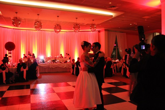 First dance at 50's Themed Belvedere Banquets Wedding