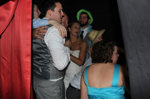 Fun in the Photo Booth at the Cantigny Park Wedding