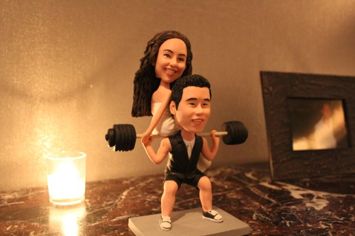 Bobble Head at Spiaggia Wedding