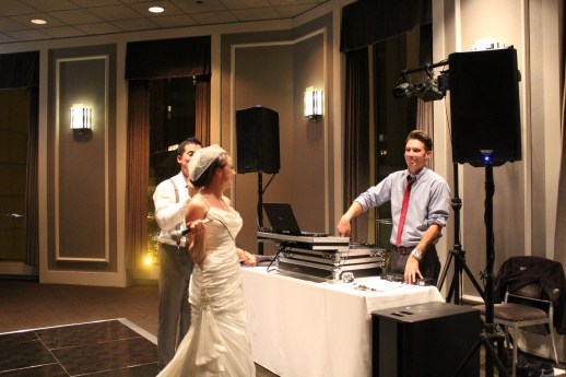 Bride and Groom and Chicago Wedding Dj at Spiaggia Wedding