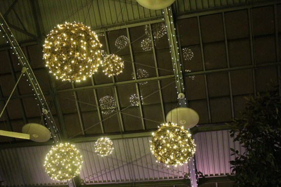 Hanging Grapevine Balls, Chicago Wedding Lighting at the Garfield Park Conservatory Wedding