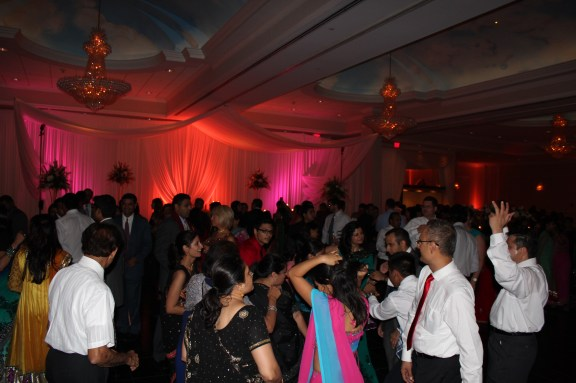 Dance Floor at the Ashyana Banquets Wedding