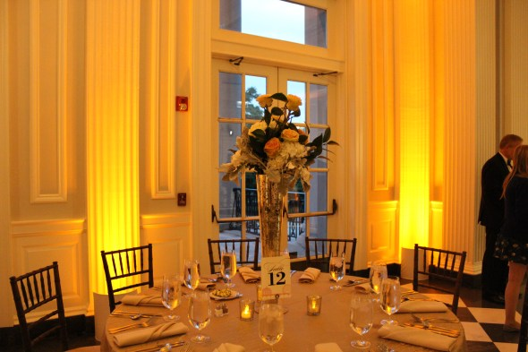 Centerpieces at a Chicago History Museum Wedding
