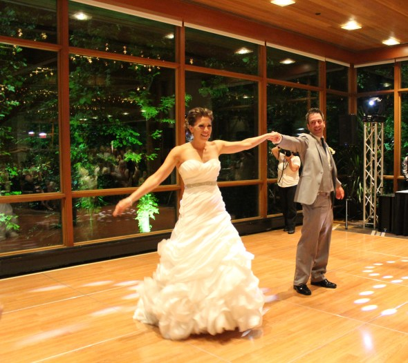 Bride and Groom's first dance at the Oak Brook Hyatt Lodge