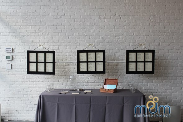 Hanging Table Cards at Room 1520