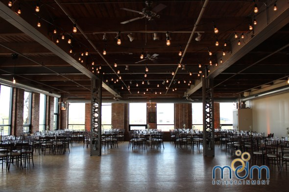 Reception Room at Kitchen Chicago and City View Lofts Wedding
